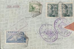 1939-CARTA-Edifil. 870, 884. G. FRANCO SANCHEZ-TODA Y LA CIERVA. MADRID A ALEMANIA. Censura - 1931-50 Lettres