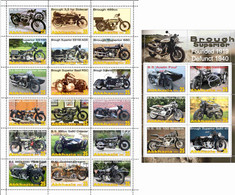 Fantazy Labels / Private Issue. The History Of Motorcycle Transport. Motorcycles  Brough Superior England. 2021 - Fantasy Labels