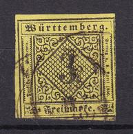 Wuerttemberg - 1851 - Michel Nr. 2 - Gestempelt - Wuerttemberg