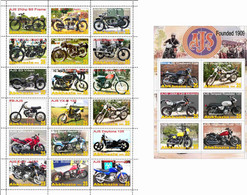 Fantazy Labels / Private Issue. The History Of Motorcycle Transport. AJS Motorcycles UK. 2021 - Fantasy Labels