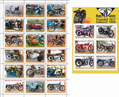 Fantazy Labels / Private Issue. The History Of Motorcycle Transport . Motorcycles Monet Goyon France. 2021 - Fantasy Labels