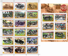 Fantazy Labels / Private Issue. The History Of Motorcycle Transport. Motorcycles Phelon & Rayner  UK. 2021 - Fantasy Labels