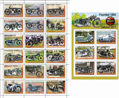 Fantazy Labels / Private Issue. The History Of Motorcycle Transport. Motorcycles Velocette England. 2021 - Fantasy Labels