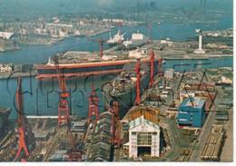 Dunkerque (59) :  Vue Aérienne Générale Au Niveau Du Chantier Naval En 1970 (animé)GF. - Dunkerque