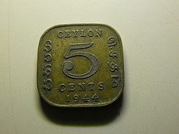 Ceylon 5 Cents 1944 - Sri Lanka