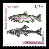 Andorra (FR) 2020 Mih. 866 Fauna. Fishes. Rainbow Trout MNH ** - Unused Stamps