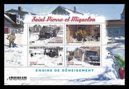 St. Pierre And Miquelon 2021 Mih. 1349/52 (Bl.43) Snowblower. Tractors. Automobiles. Trucks MNH ** - Nuovi