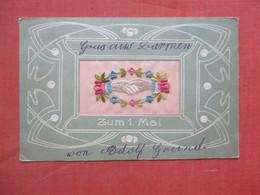 Embroidered  Silk      Zum 1 Mai      Ref 4849 - Embroidered