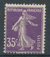 [803668]TB//*/Mh-142, 35c Violet, Semeuse Camée, */mh - 1906-38 Säerin, Untergrund Glatt