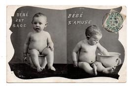 CPA - BÉBÉ EST SAGE  BÉBÉ S'AMUSE - Babies