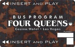 Four Queens Casino - Las Vegas, NV - BLANK Bus Card (white Boxes With No Bus# Or Player#) - Tarjetas De Casino