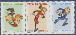 N° 3878 + 3877a + 3879 Du Carnet Fête Du Timbre Spirou Valeur Faciale Ecopli 20g + Lettre 20g + Monde 20g - Nuovi