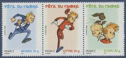 N° 3879 + 3877a + 3878 Du Carnet Fête Du Timbre Spirou Valeur Faciale Monde 20g + Lettre 20g + Ecopli 20g - Unused Stamps