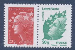 N° 4566 & 4593a Attenant Du Feuillet F4687 1er Anniversaire De La Gamme Courrier Rapide Faciale LV+LP - Unused Stamps