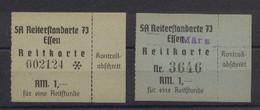 Essen 2 Reitkarten Für Je 1 Reitstunde Der SA Reiterstandarte 73 Essen - Sin Clasificación