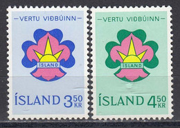 Iceland 1964 - Embleme Scout, Mi-Nr. 378/79, MNH** - Ungebraucht