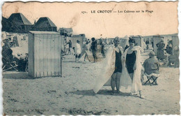 3YTH 112 CPA - LE CROTOY - LES CABINES SUR LA PLAGE - Le Crotoy