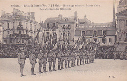 45 -- Orléans -- Fêtes De Jeanne D'Arc -- 7 & 8 Mai -- Hommage Militaire -- Les Drapeaux Des Régiments --- 3595 - Orleans