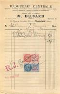 FACTURE DELBARD DROGUERIE CENTRALE COMMENTRY 06/1950 - 1950 - ...