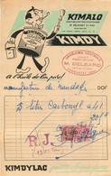 FACTURE DELBARD DROGUERIE CENTRALE PEINTURE KIMDY COMMENTRY 06/1950 - 1950 - ...