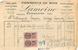 FACTURE LAMOINE COMMERCE DE BOIS COMMENTRY 04/1936 - 1900 – 1949