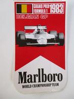 AUTOCOLLANT MARLBORO GRAND PRIX F1 BELGIAN GP 1983 - Adesivi