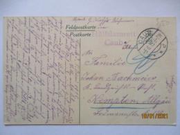 Lazarett Hülfslazarett Caub 1915 Nach Kempten (16634) - Guerra 1914-18
