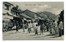 RC 20936 CEYLON SRI LANKA NATIVE TOWN KANDY CARTE POSTALE -  POSTCARD - Sri Lanka (Ceylon)