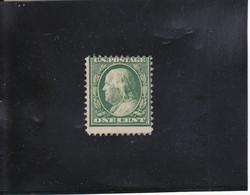 FRANKLIN 1C VERT NEUF SANS GOMME N° 167  YVERT ET TELLIER 1908-09 - Unused Stamps