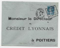 N° 140 PERFORE CL LETTRE DAGUIN GRANDE SEMAINE DE TOURS 9.17 MAI 1925 TOURS GARE 14.3.25 INDRE ET LOIRE - Mechanical Postmarks (Advertisement)