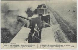 14-18 : Train Blindé Actionné Par Des Artilleurs Anglais Et Belges - 1914 - War 1914-18