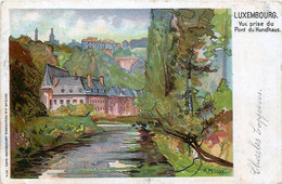 Luxembourg - Vue Prise Du Pont Du Hundhaus - Litho; Rosenzweig N° 4 - Luxemburg - Town