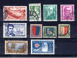 Petite Collection Suisse Avec Pro Juventute, Pro Patria Et Lettre De Vol Spéciale; Lot 52760 - Verzamelingen