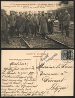OC2 Sur CP Vue (Soldat Allemand à Bruxelles, Prisonniers Français Gare De Schaerbeek) Obl à Pont Givet + Censure Philipp - [OC1/25] Gov. Gen..
