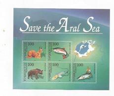 TADZHIKISTAN - 1996 - Save The Aral Sea - Perf 5v Souv Sheet  - Mint Lightly Hinged - Tajikistan