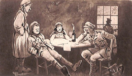"""""""Humour""""  First Half-hour Before Going-in To The Trenches (Bruce Bairnsfather) (fixed Price) - Humor"""