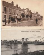 SAINT DENIS De L'HOTEL - 2 CPA : La Grande Rue - Pont Suspendu - Andere Gemeenten