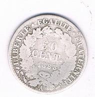 50 CENTIMES 1888 A FRANKRIJK /3141/ - G. 50 Céntimos