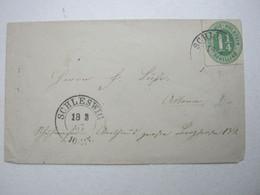 1867 , SCHLESWIG , Klarer Stempel Auf Brief - Schleswig-Holstein