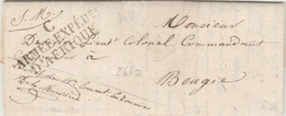 """MARQUE D'ARMEES - Marque """"C ARMEE EXPED D'AFRIQUE Sur Lettre De MAHELMA"""" - 1835  + Certificat POTHION - Bolli Militari (ante 1900)"""
