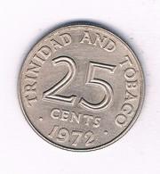 25 CENTS 1972  TRINIDAD AND TOBAGO /3145/ - Trinidad & Tobago