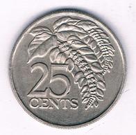 25 CENTS 1975  TRINIDAD AND TOBAGO /3146/ - Trinidad & Tobago