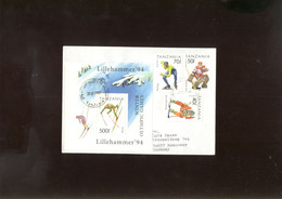 W Olympic 1994  Cover, Lettre, Brief Of Tanzania  Hockey - Winter 1994: Lillehammer