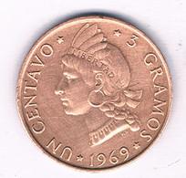 1 CENTAVO 1969 DOMINICAANSE REPUBLIEK /3149/ - Dominicana