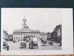 62  , Aire Sur La Lys ,la Place Et L'hôtel De Ville Début 1900 - Aire Sur La Lys