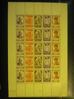 1943 N°580 FEUILLE AU PROFIT DU SECOURS NATIONAL MARECHAL PETAIN   NEUF** - Full Sheets