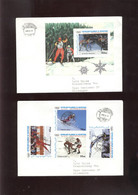 W Olympic 1988 2 Covers, Lettre, Brief Of Mauritania  Hockey - Winter 1988: Calgary
