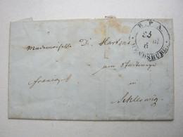 1851 , RENDSBURG , Klarer Stempel Auf Brief Mit Inhalt - Schleswig-Holstein