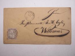 1863 , ETTISWYL , Klarer Stempel Auf Brief - Covers & Documents