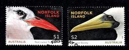 Norfolk Island 2016 Seabirds Set Of 2 Used - Norfolk Island
